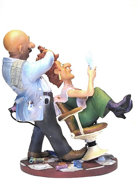 The Barber Figurine