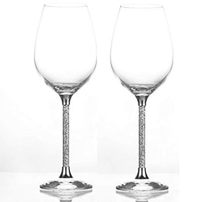 Wine Glass with Crystals, Set of 2
