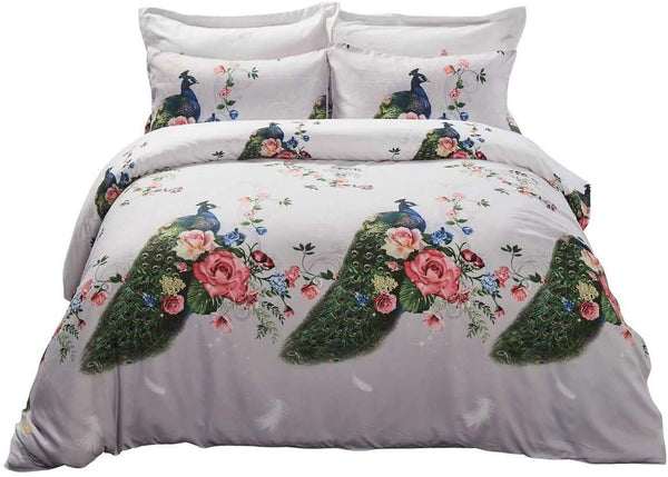 Peacock Beauty Luxury Duvet Cover Bedding Set