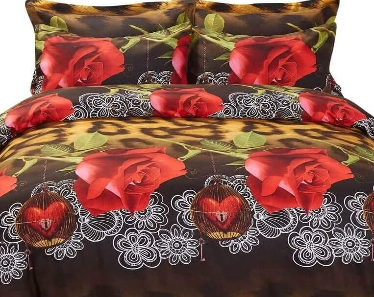 Rose Passion Luxury Duvet Cover Bedding Set