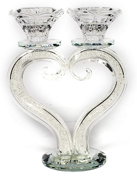 Crystal Heart Candle Holder