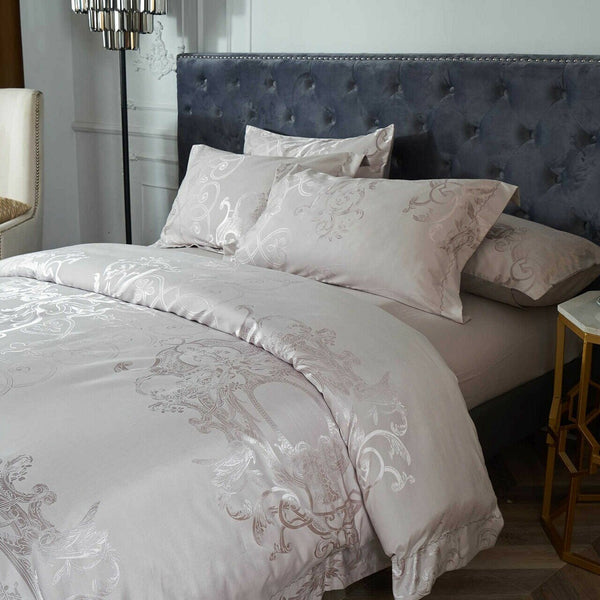 Santa Luzia Jacquard Luxury Duvet Cover Bedding Set
