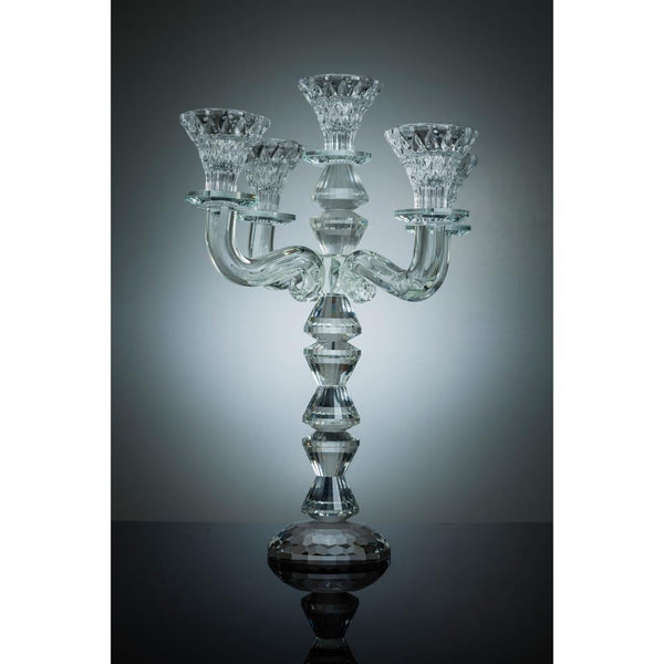 Crystal Candelabra Candle Holder, 5 Arm