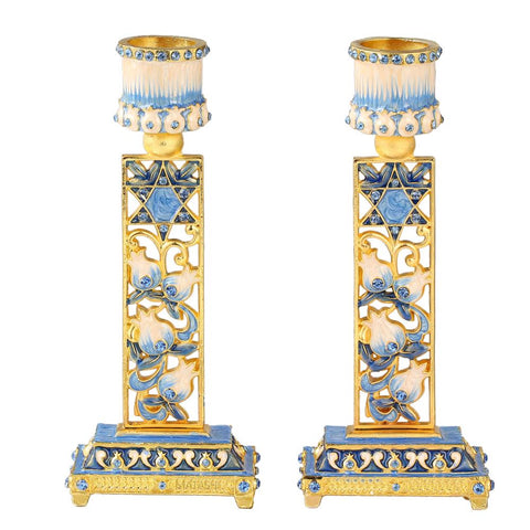 Star and Floral Candle Holders, Set of 2