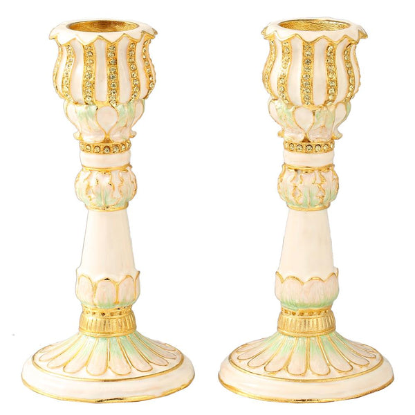 Ivory Candle Holder, Set of 2