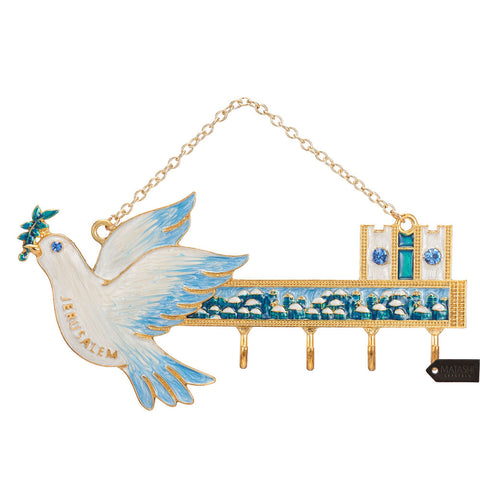 Hanging Wall Key Holder, Dove Design