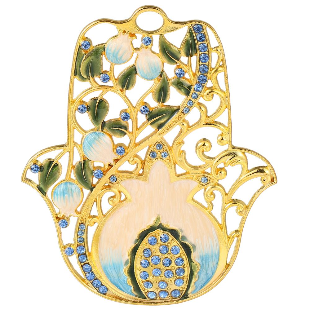 Hamsa Pomegranate Design Blessing Ornament