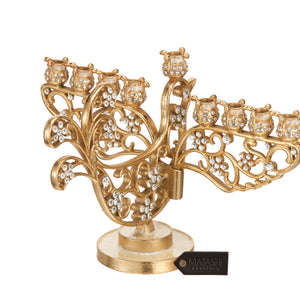 Menorah Gold Dove Design