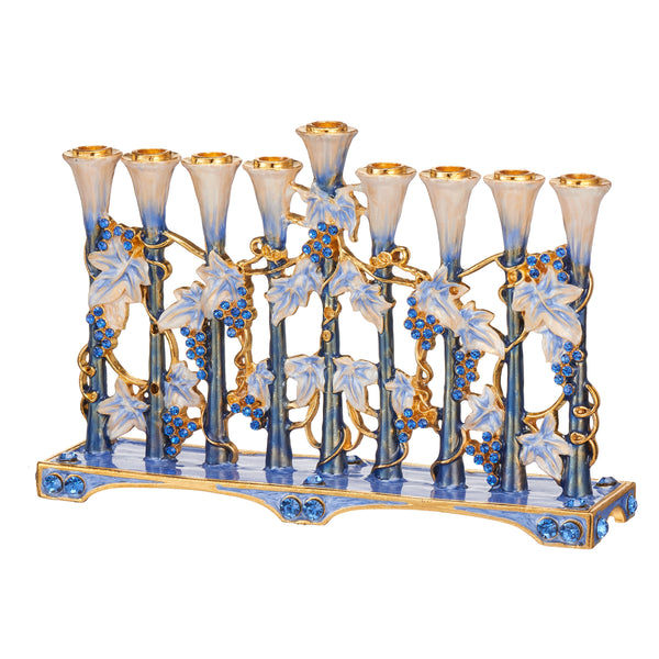 Menorah Blue Tulip Design