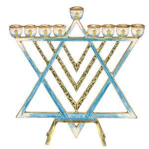 Menorah Star of David Design