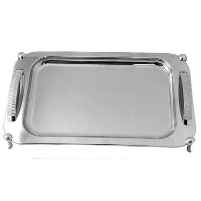 Silver Glitter Design Tray with Legs
