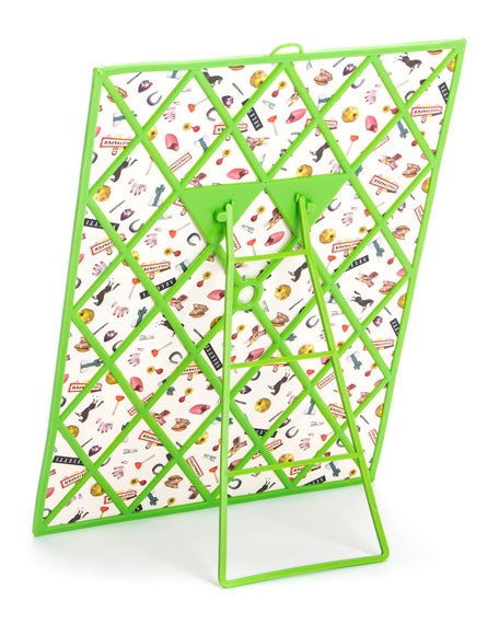 Graphic Printed Mirror Seletti, Flower with Holes