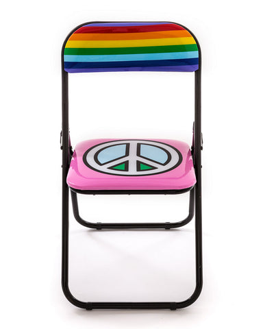 Metal Folding Chair Seletti, Peace