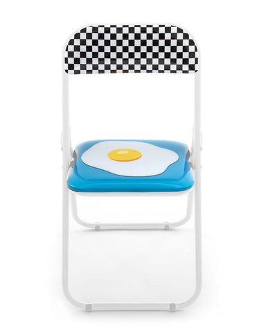 Metal Folding Chair Seletti, Egg