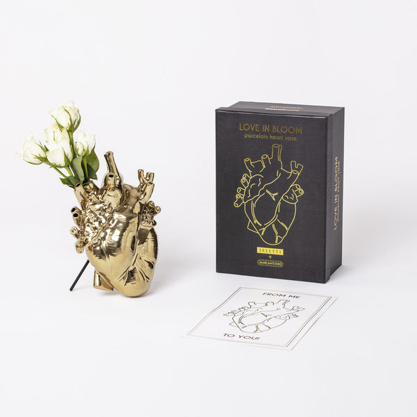 Love in Bloom Vase Seletti, Gold