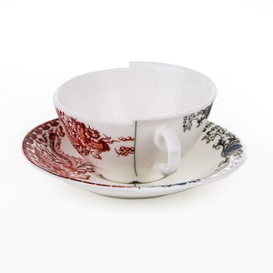 Hybrid Seletti Tea Cup with Saucer, Zora