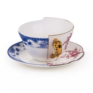 Hybrid Seletti Tea Cup with Saucer, Zenobia