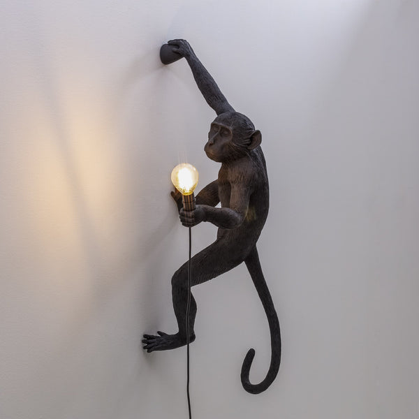 Monkey Lamp Hanging Seletti, Black