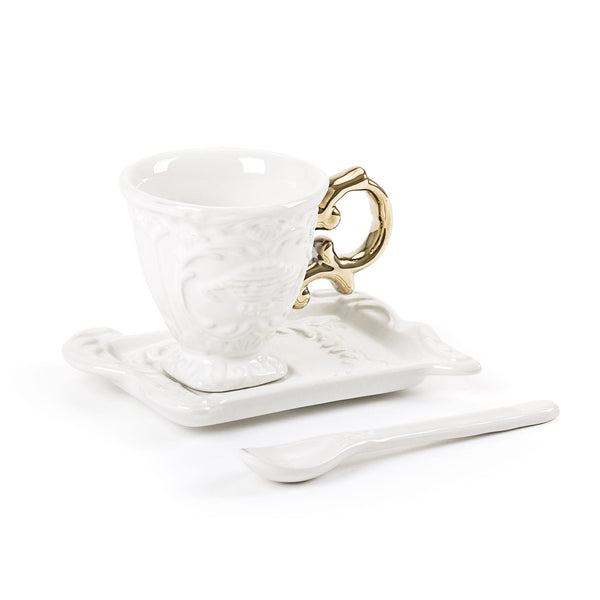 IWares Seletti Espresso Coffee Set, Gold