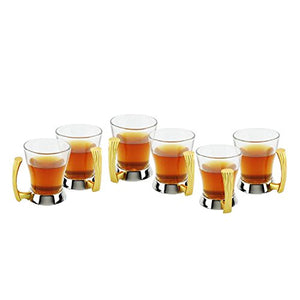 Tea Coffee Cup Gold Tone, Set of 6