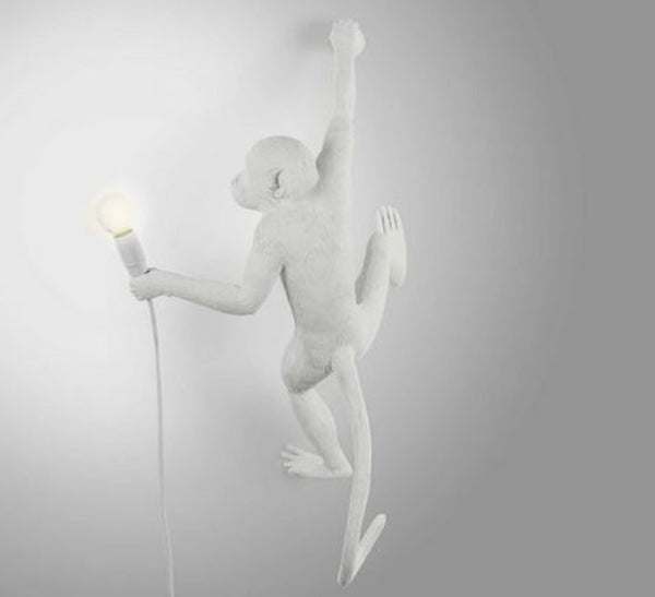 Monkey Lamp Hanging Seletti, White
