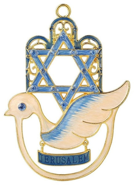 Hamsa Dove Design Ornament