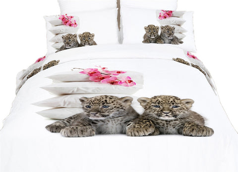 Baby Leopards Luxury Duvet Cover Bedding Set