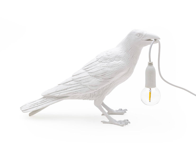Bird Lamp Waiting Seletti, White