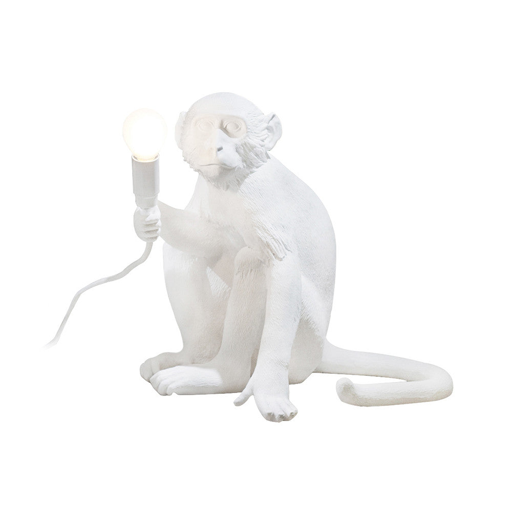 Monkey Lamp Sitting Seletti, White