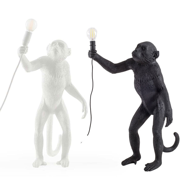 Monkey Lamp Standing Seletti, White