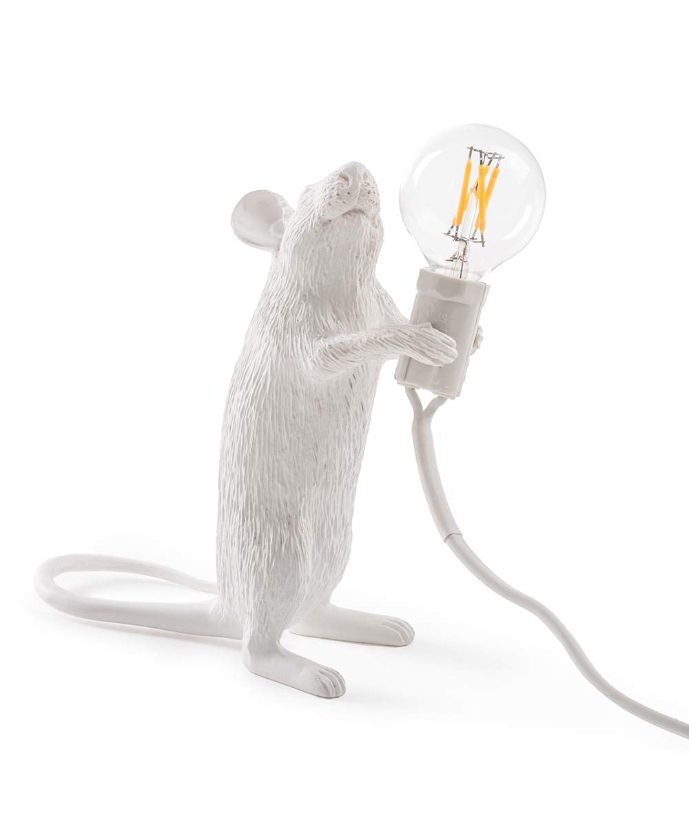 Mouse Lamp Standing Seletti, White