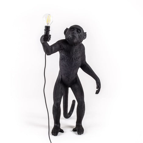 Monkey Lamp Standing Seletti, Black
