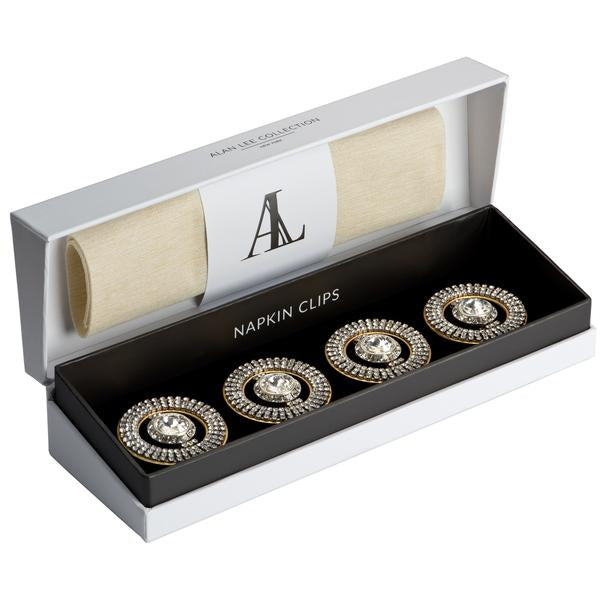 Alan Lee Collection Napkin Clips Holders, Set of 4
