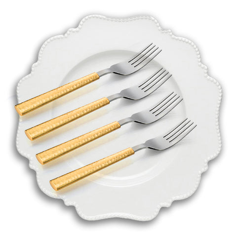 Fruit Fork Gold Tone, Set of 4