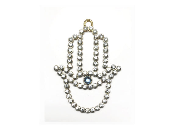 Crystal Hamsa Blessing Ornament
