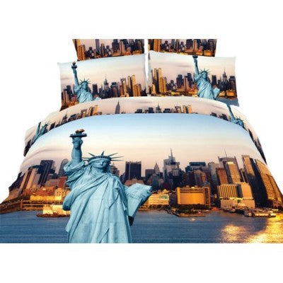 Statue of Liberty NYC Duvet Cover Bedding Set