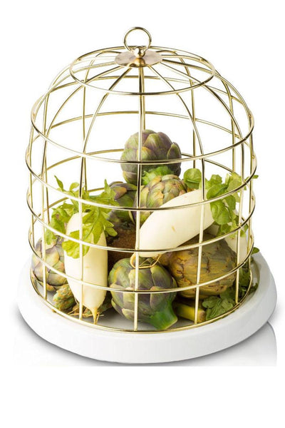 Gold Metal Decorative Birdcage, Seletti
