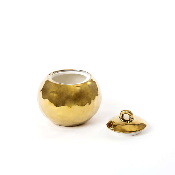 Fingers Porcelain Gold Sugar Bowl, Seletti