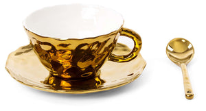 Fingers Porcelain Gold Tea Set, Seletti
