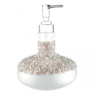 Soap Dispenser Ornate Victorian Design with Crystals