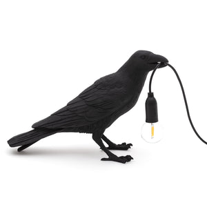 Bird Lamp Waiting Seletti, Black