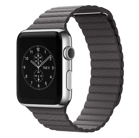 Image of Leather Loop Apple Watch Band Compatible With Series 5/4/3/2/1