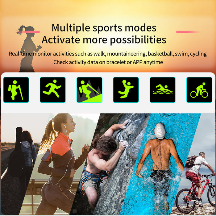 IP68 Waterproof Heart Rate Monitor Weather Forecast Activity Fitness Tracker Sport Smartwatch