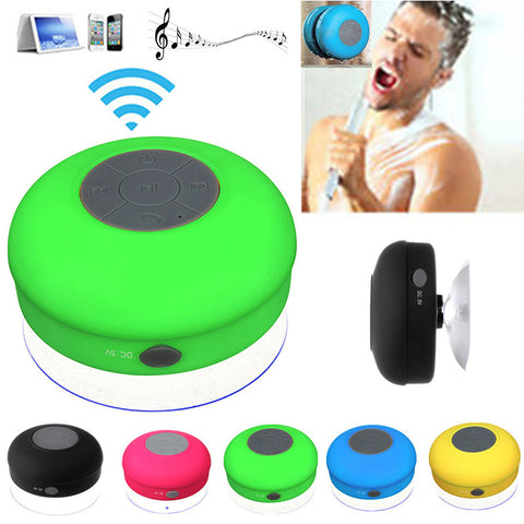 Mini Wireless Bluetooth Speaker Waterproof Shower Speaker Handsfree Portable Speakerphone with Suction Cup