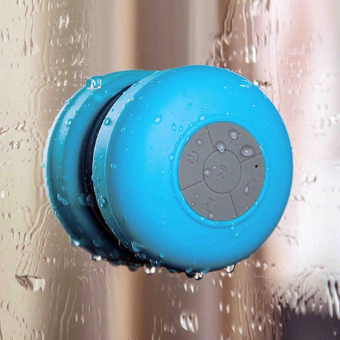 Image of Mini Wireless Bluetooth Speaker Waterproof Shower Speaker Handsfree Portable Speakerphone with Suction Cup