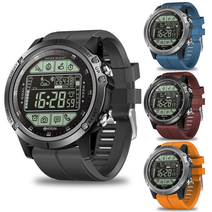 Water Resistant Rugged Outdoor Smartwatch Real-time Weather Calorie Fitness Tracker