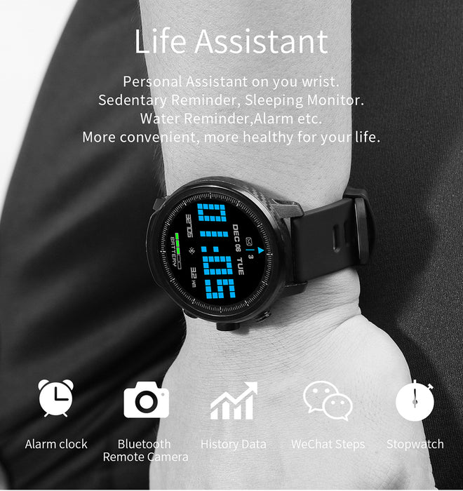 Men's Muliti-Sport Blood Pressure Heart Rate Monitor IP68 Waterproof Smart Watch For Android iPhone