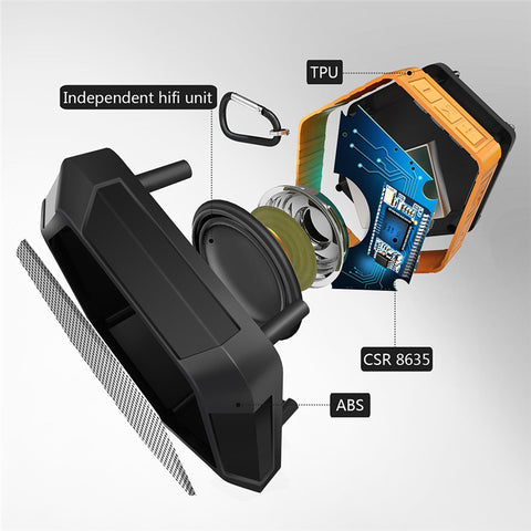 Image of Outdoor Sport Wireless Bluetooth Waterproof Portable Subwoofer Full Range USB Mini Speaker