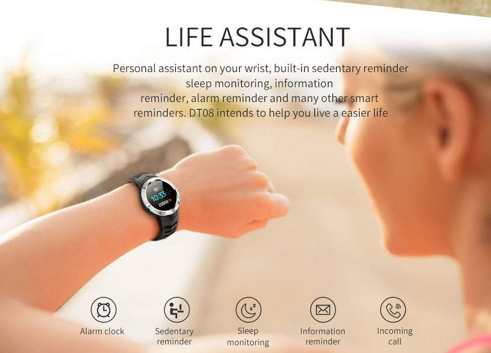 Heart Rate Monitor Multi-Sport Mode Fitness Tracker Waterproof Smartwatch For iPhone Android