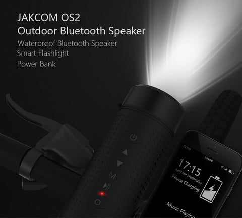 5200mAh Outdoor Wireless Bluetooth Waterproof Bicycle Portable Subwoofer Bass Speakers With LED Light Power Bank